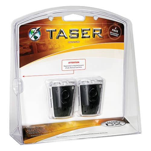 taser double replacement cartridges package