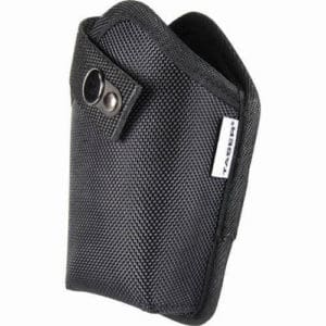 front view of black vinyl holster