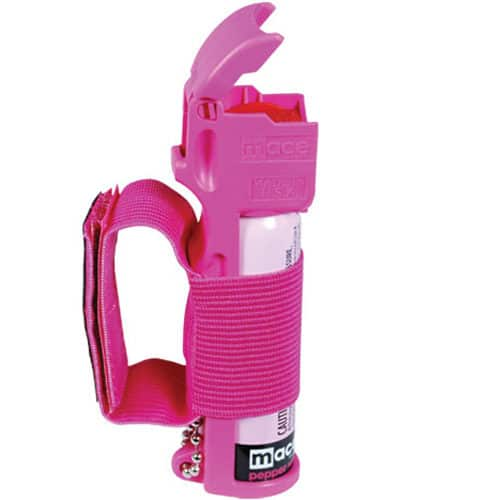 jogger pepper spray mace with actuator open