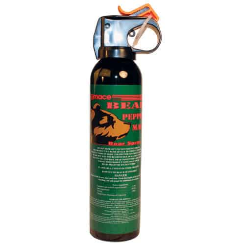 right view 260 grams of bear mace pepper spray