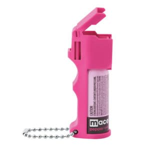 Side view hot pink pepper spray with actuator open
