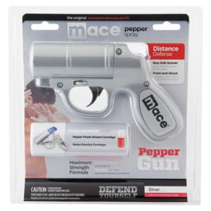 pepper spray gun silver in package