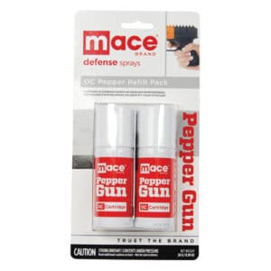 refill for mace pepper gun 2 pack in package