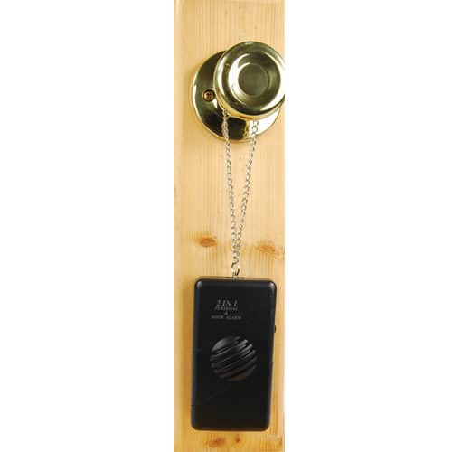 chain hanging door handle alarm