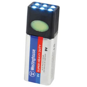 all lights on off blocklite 9 volt battery flashlight