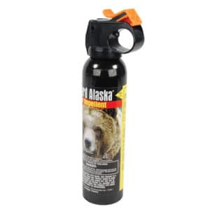 9 oz large an of bear pepper spray side view