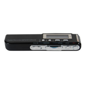 digital phone recorder and mp3 player laying down