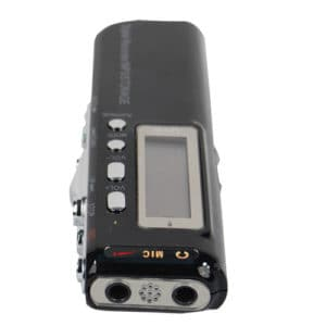 digital phone recorder and mp3 player top view
