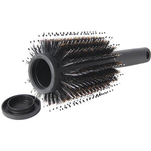 hairbrush diversion safe laying on side with top open