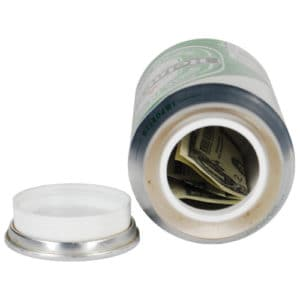 large beer can diversion safe laying open