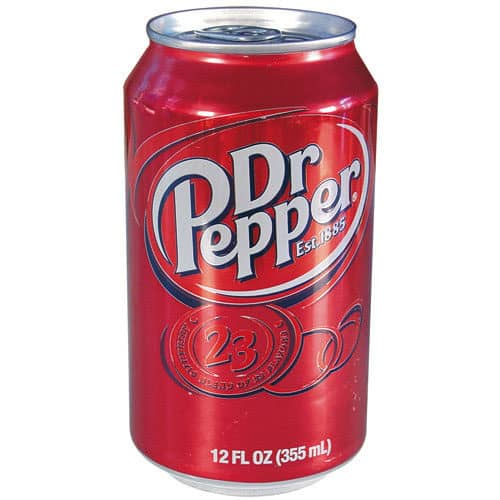 Dr. Pepper can diversion safe front view