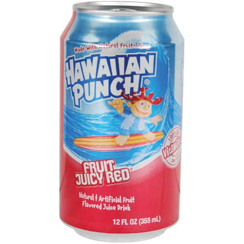 Hawaiian punch diversion can on side with top open