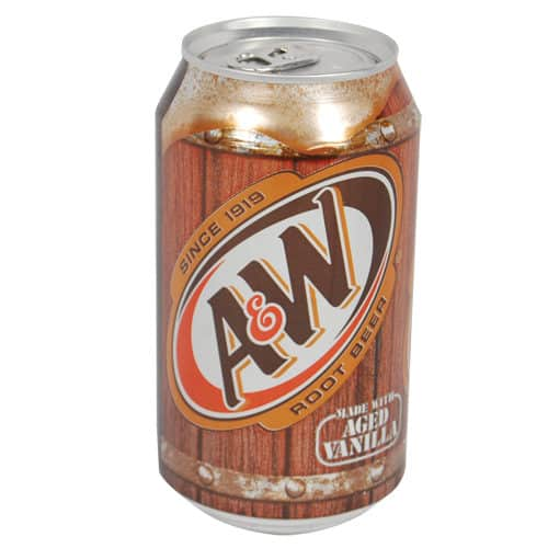 a & w root beer diversion safe front view standing
