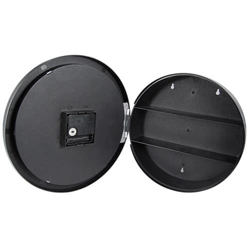 opened wall clock diversion safe rear view