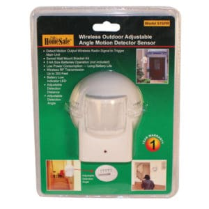 motion detecting outdoor homesafe security sensor in packaging