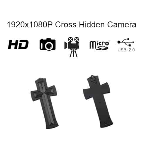 Double hanging cross hidden camera