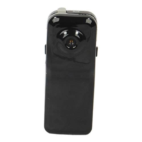 front angle view of mini hidden spy camera with DVR white