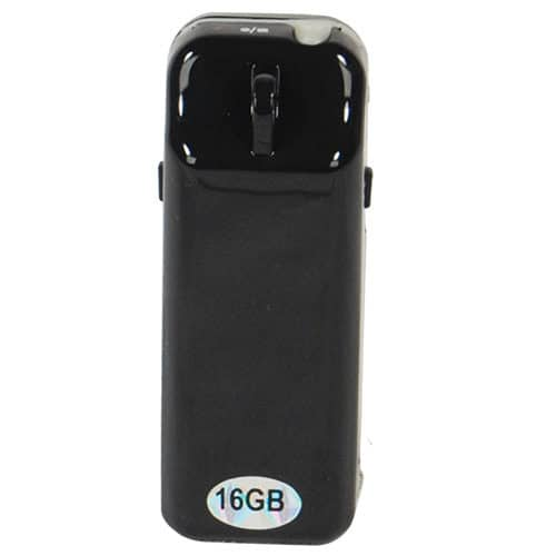 front view of mini hidden spy camera with dvr