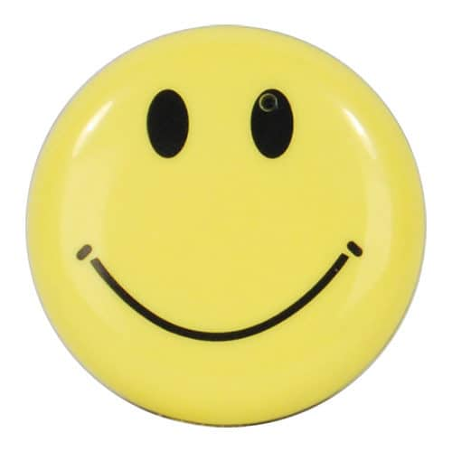 direct front view of hidden camera smiley face