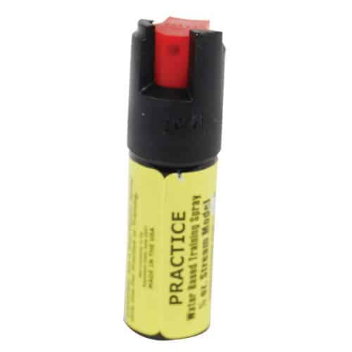 yellow inert fake pepper spray for practice