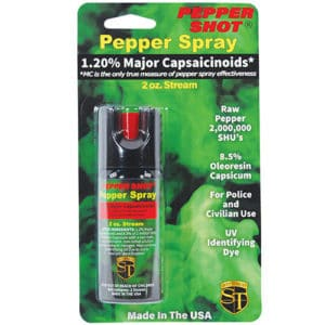 front facing pepper shot 2 oz. 1.2 % MC in package