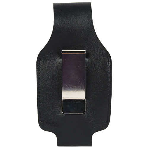 leatherette 4 oz pepper spray holster upside down view of rear