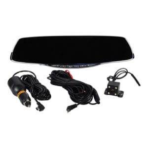 hd camera rear view mirror with built in DVR and cables