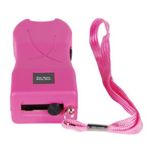 pink runt stun gun rechargeable with wrist strap disable pin