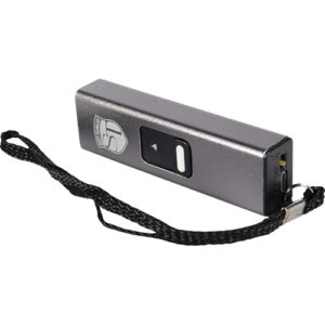 silver led flashlight stun gun with usb rechargeable