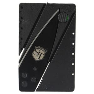 front view credit card knifes