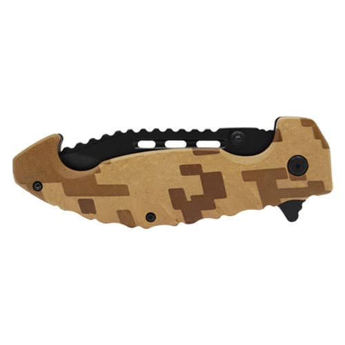 camo tactical pocket knife closed