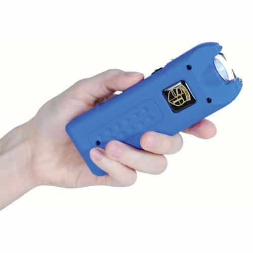blue rechargeable with alarm and flashlight multiguard stun gun
