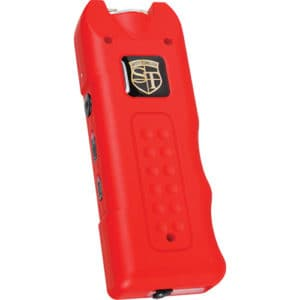 red rechargeable with alarm and flashlight multiguard stun gun