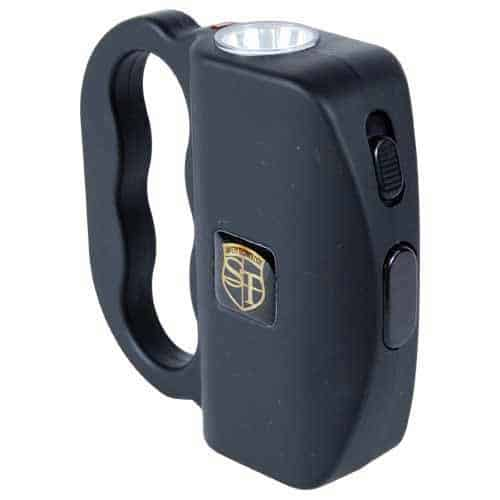 black talon flashlight with stun gun side view facing right