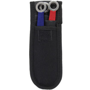 3 piece throwing knife set - blue, red. gold. green n holster