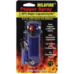 wildfire pepper spray in package blue