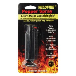 windfire pepper spray in hard case black in package