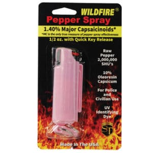 windfire pepper spray in hard case pink in package