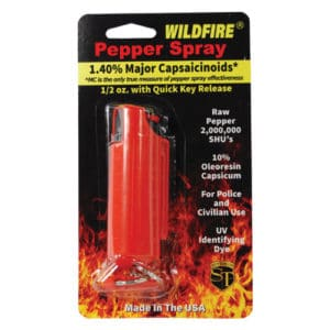 windfire pepper spray in hard case red in package