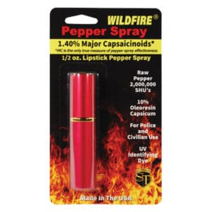 lipstick windfire pepper spray in package red
