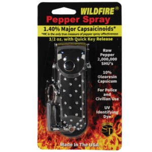 1/2 oz wildfire pepper spray in rhinestone holster in package