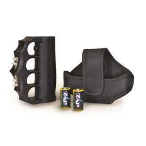 knuckles extreme zap stun gun shown with holster