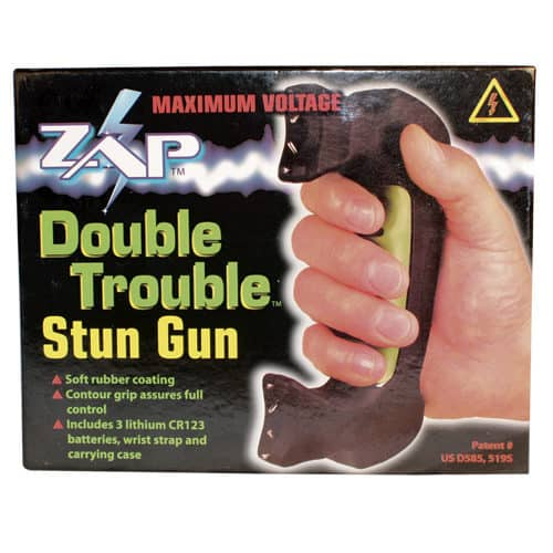 double stun gun zap double trouble in package front view
