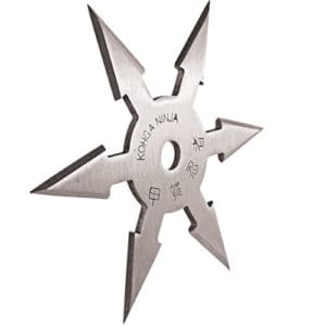 5 point throwing star silver