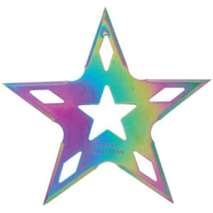 5 point throwing star colorful