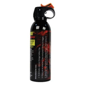 4 oz wildfire pepper spray can top open