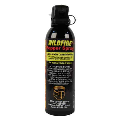 16 oz wildfire pepper spray fogger fire master rear view
