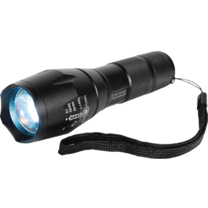powerful black flashlight for personal safety