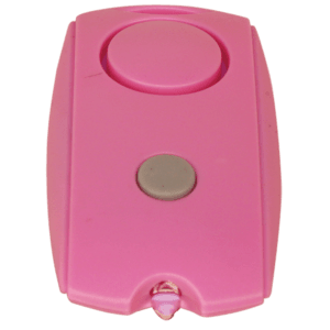 pink chain link personal alarm